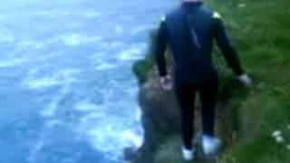 jumping off harveys cliff tramore