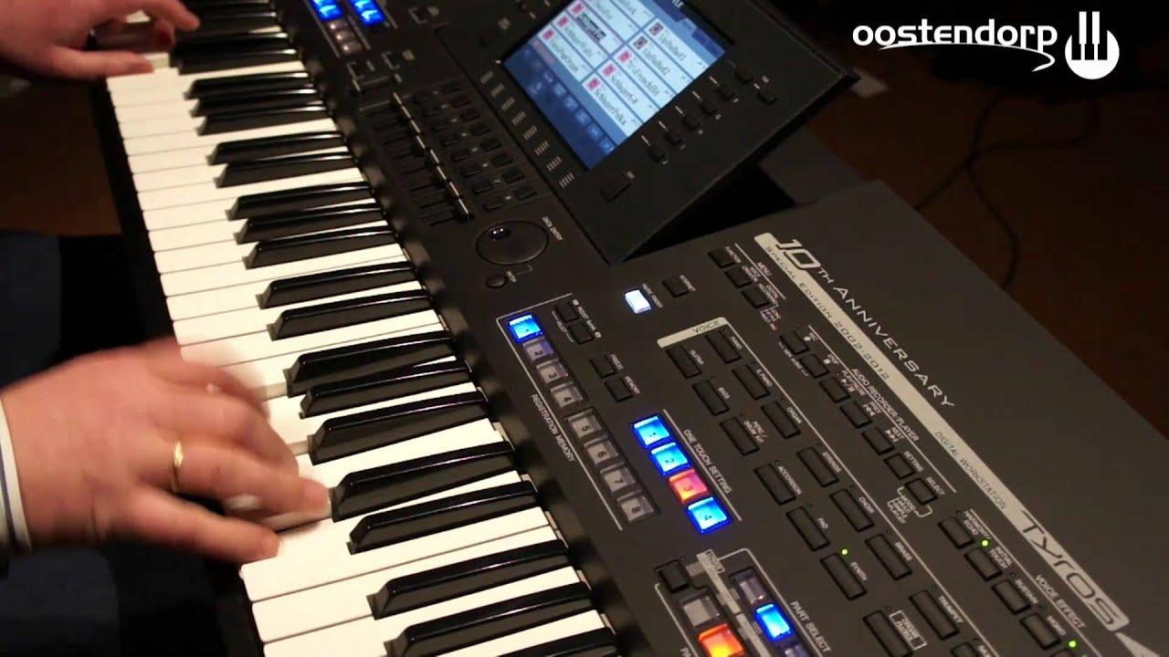 yamaha tyros 4 black limited edition keyboard bij muziekcentrum