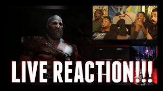 God Of War E3 2016 Trailer Live Reaction!