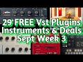 29 Best New FREE VST PLUGINS, Vst Instruments, SAMPLE PACKS & Huge Deals - SEPTEMBER 2021 Week 3