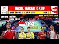 HASIL THOMAS UBER CUP 2021 HARI INI ~ INDONESIA VS CHINESE TAIPE Thomas Cup Day 5 | KLASEMEN AKHIR