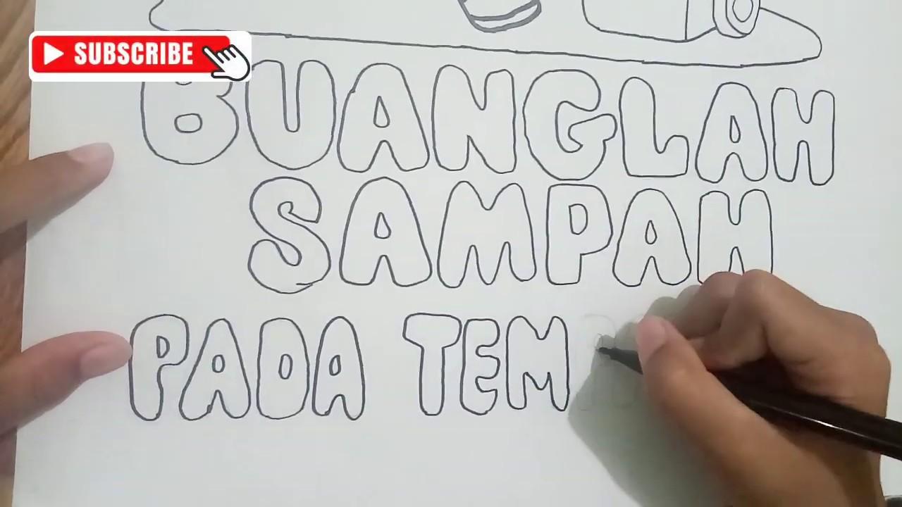 Menggambar Tema Kebersihan Lingkungan Pr Sekolah Zahra Part 1 Youtube