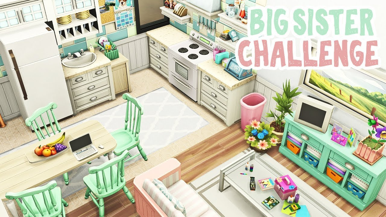 Big Sister Challenge 💕 || The Sims 4 Apartment Renovation: Speed Build thumbnail