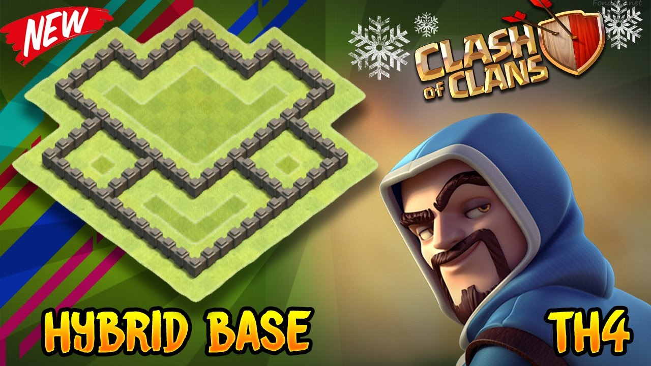 Clash Of Clans Best Th4 Hybrid Base Town Hall 4 Defense Base