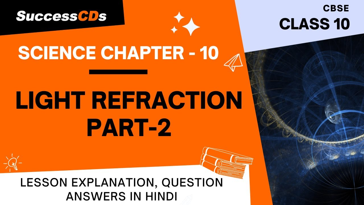 Download Light Part 2 Refraction Class 10 Science Chapter 10 explanation, QA