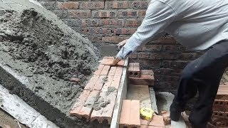 Construction Amazing Stairs Using Brick And Mortar - Stairs Rough Construction -  House Construction