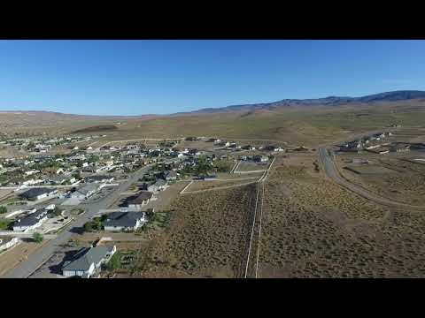 Drone flight over the Fernley Mansion - Fernley Nevada - Sage Ranch