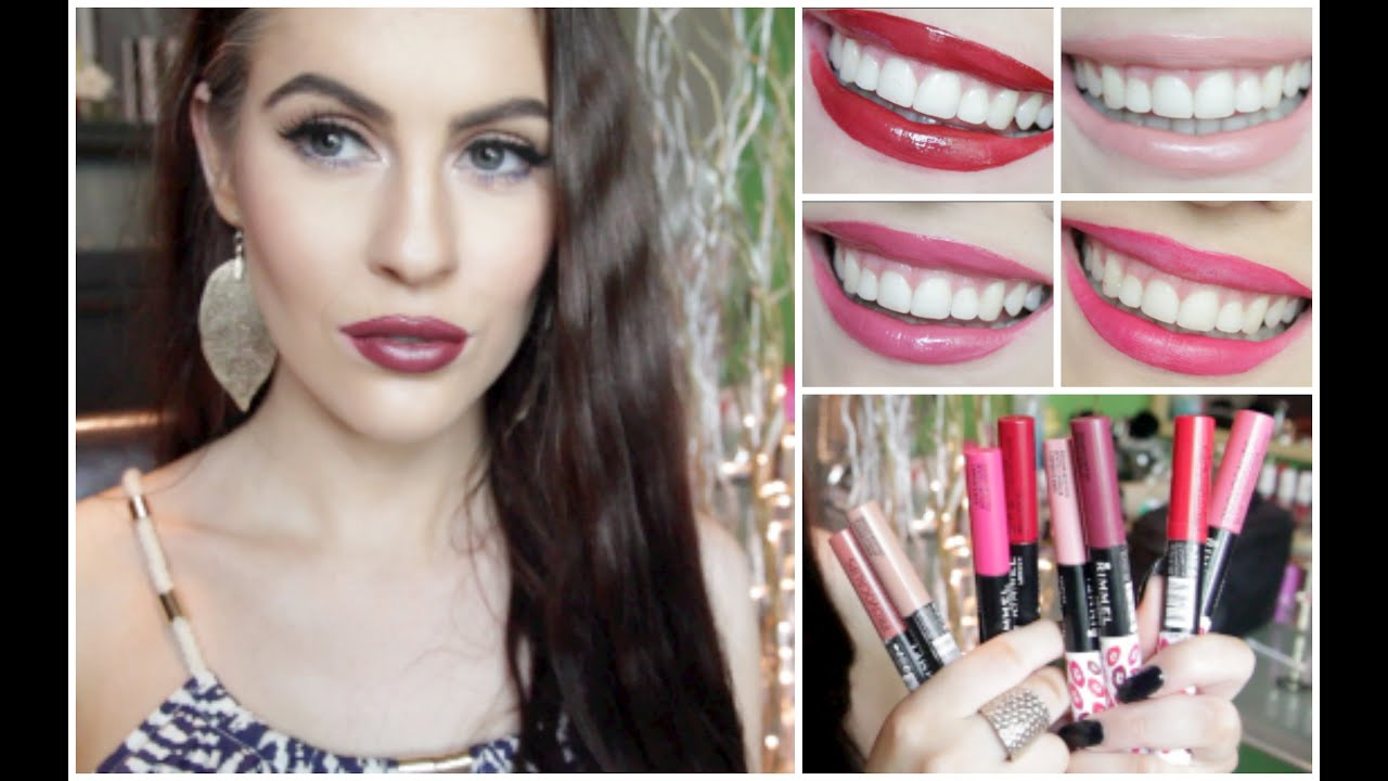 Rimmel Provocalips Whole Collection Review And Lip Swatches Youtube