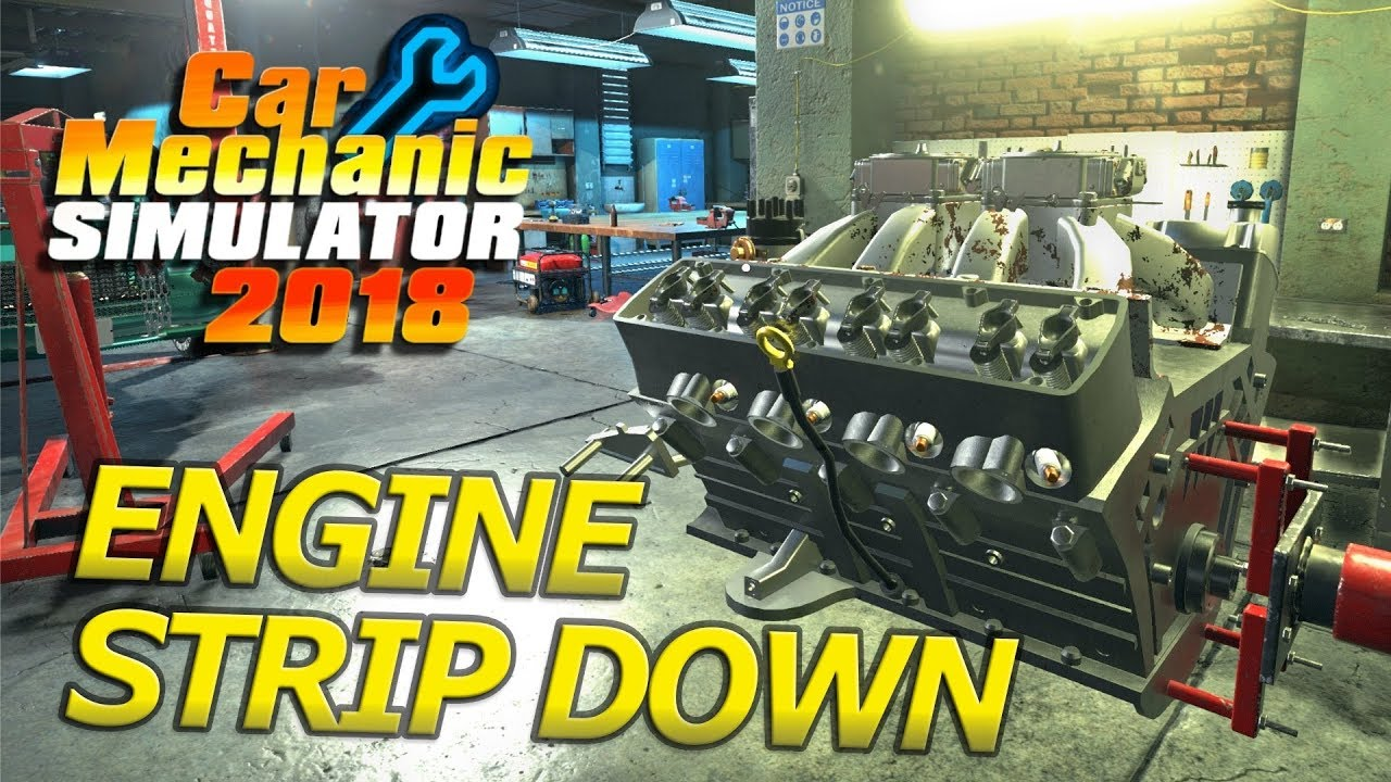 ENGINE STRIP DOWN | BARN FIND RESTORATION | Car Mechanic Simulator 2018