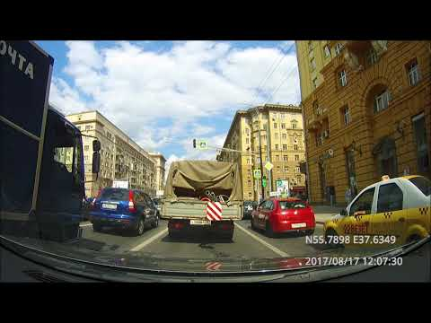 Driving in Moscow city: Текстильщики - Западное Дегунино 17/08/2017 (timelapse)