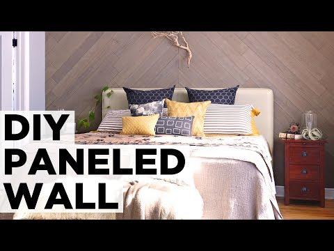 DIY Diagonal Stikwood Wall - HGTV