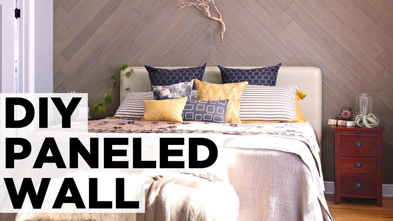 DIY Diagonal Stikwood Wall - HGTV - YouTube