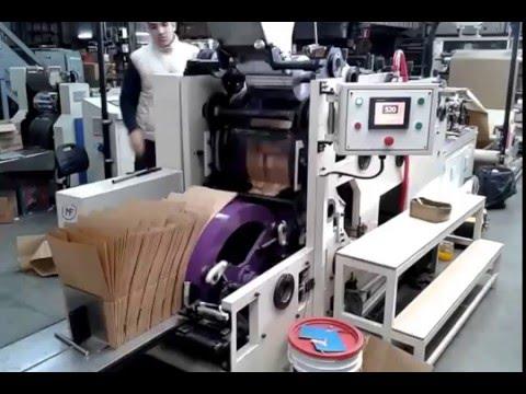 Maquina para fabricar bolsas de papel fondo cuadrado youtube - Papel de vinilo para cocinas ...
