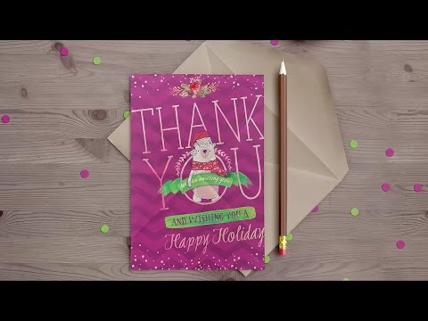 How to Design a Holiday Thank You Card Photoshop Tutorial