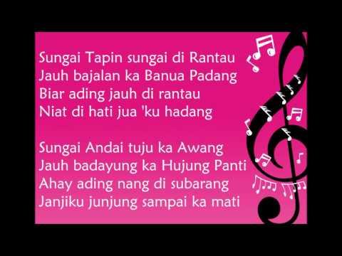 Lagu Daerah Kalimantan Selatan - Mahadang Ading (Lirik)