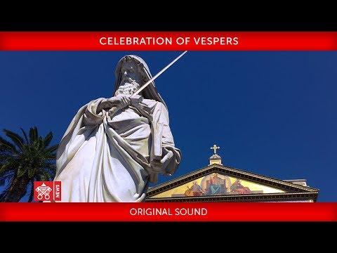 Pope Francis - Celebration of Vespers 2019-01-18