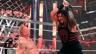 Video Roman Reigns vs  Brock Lesnar  Steel Cage Match Full Match download MP3, 3GP, MP4, WEBM, AVI, FLV November 2018