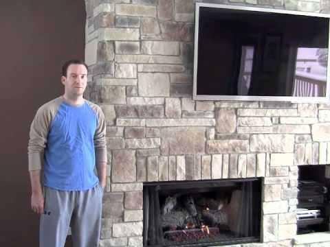 Stone Veneer Fireplace Testimonial Grayslake Il Youtube