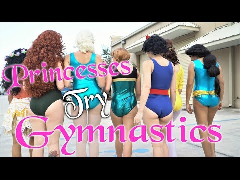 Disney Princesses Try Gymnastics| Rachel Marie