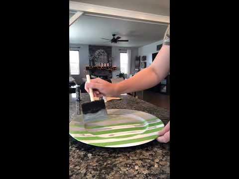 Buffalo Check Charger Plate DIY