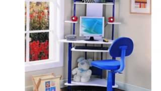39 W Computer Desk With Keyboard Tray Finish: Blue