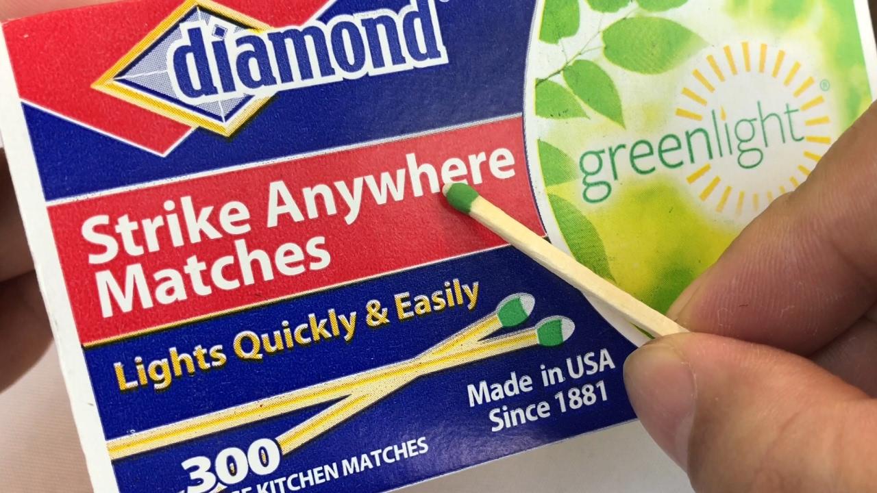 Kitchen Matches Repairs Diamond Greenlight Strike Anywhere Review Youtube
