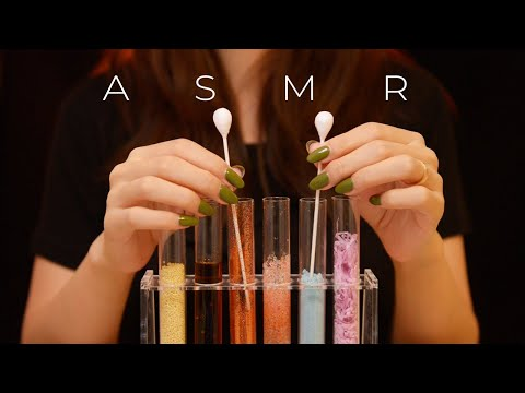 ASMR Experimental Triggers in Test Tubes (No Talking)