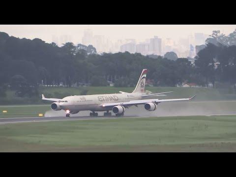 Etihad Airbus A340-600 no GRU Airport - Guarulhos