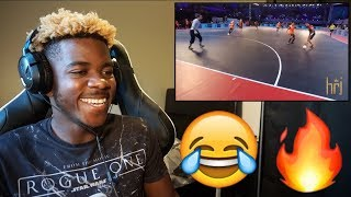 RONALDINHO DESTROYING | SKILLS & TRICKS IN PREMIER FUTSAL 2017 😂🔥 | Reaction