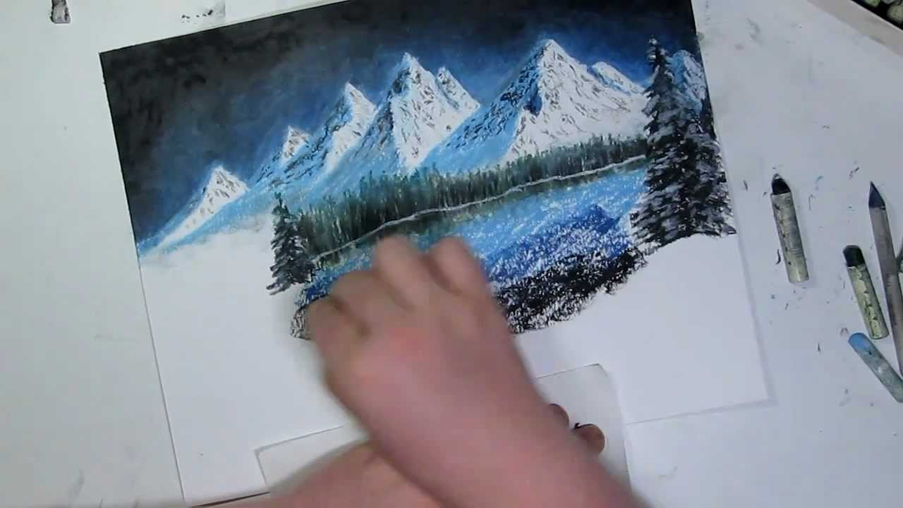 Holiday Edition Night Mountain Landscape Speed Drawing