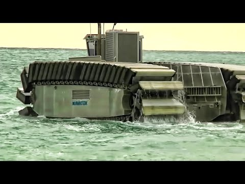 "Giant Amphib Transport - The UHAC ""Sea Tank"" Rides On Waves"