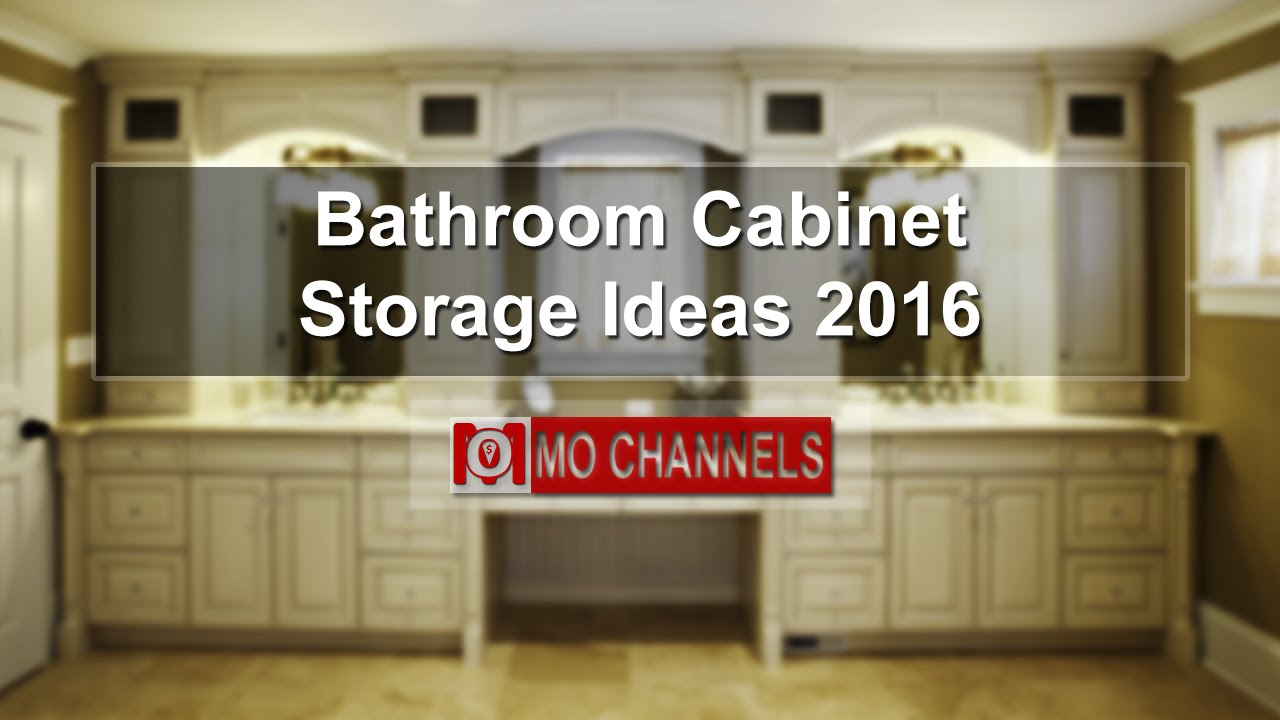 Bathroom Cabinet Storage Ideas Youtube