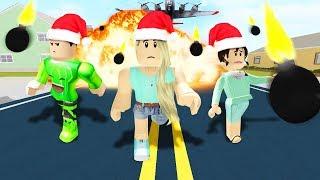 EVITAR LAS BOMBS FALLING! (Roblox) W/Jelly & Leah