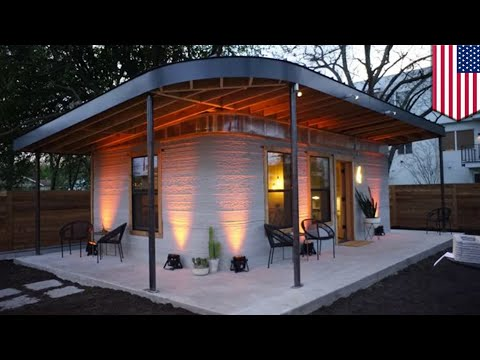 3D printed house: Texas startup unveils 3D-printed house built in less than 24 hours - TomoNews