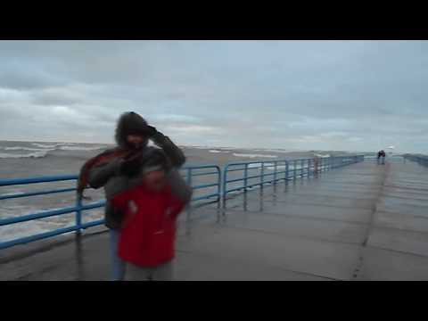 Ice cold rogue wave hits Silver Beach pier tourists