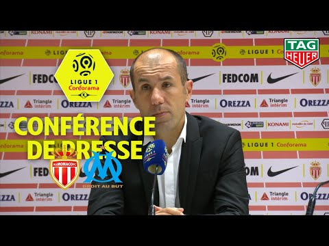 Conférence de presse AS Monaco - Olympique de Marseille ( 2-3 )  / 2018-19