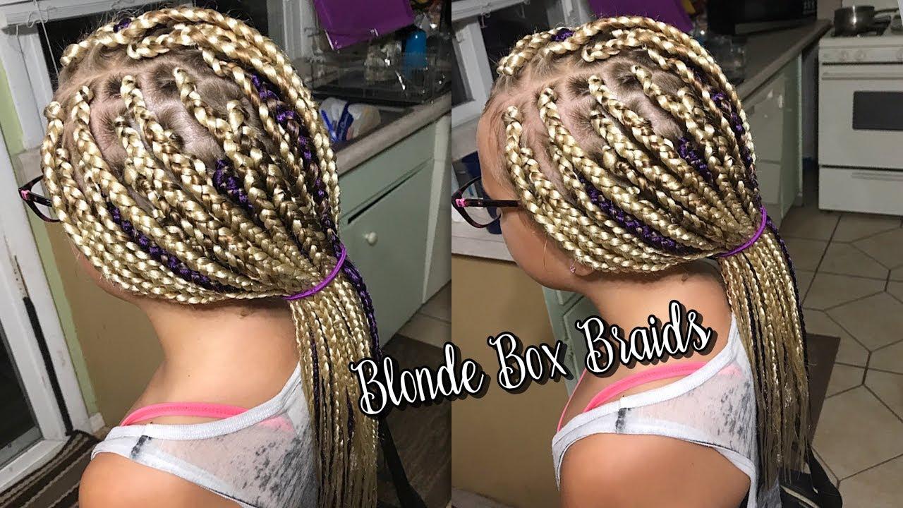 BLONDE BOX BRAIDS ON CAUCASIAN HAIR YouTube