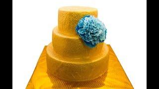 золотой торт - покрытие торта золотом