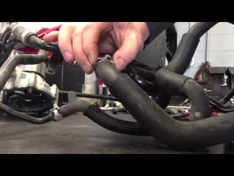 Subaru PCV and breather clamp removal/install - YouTube