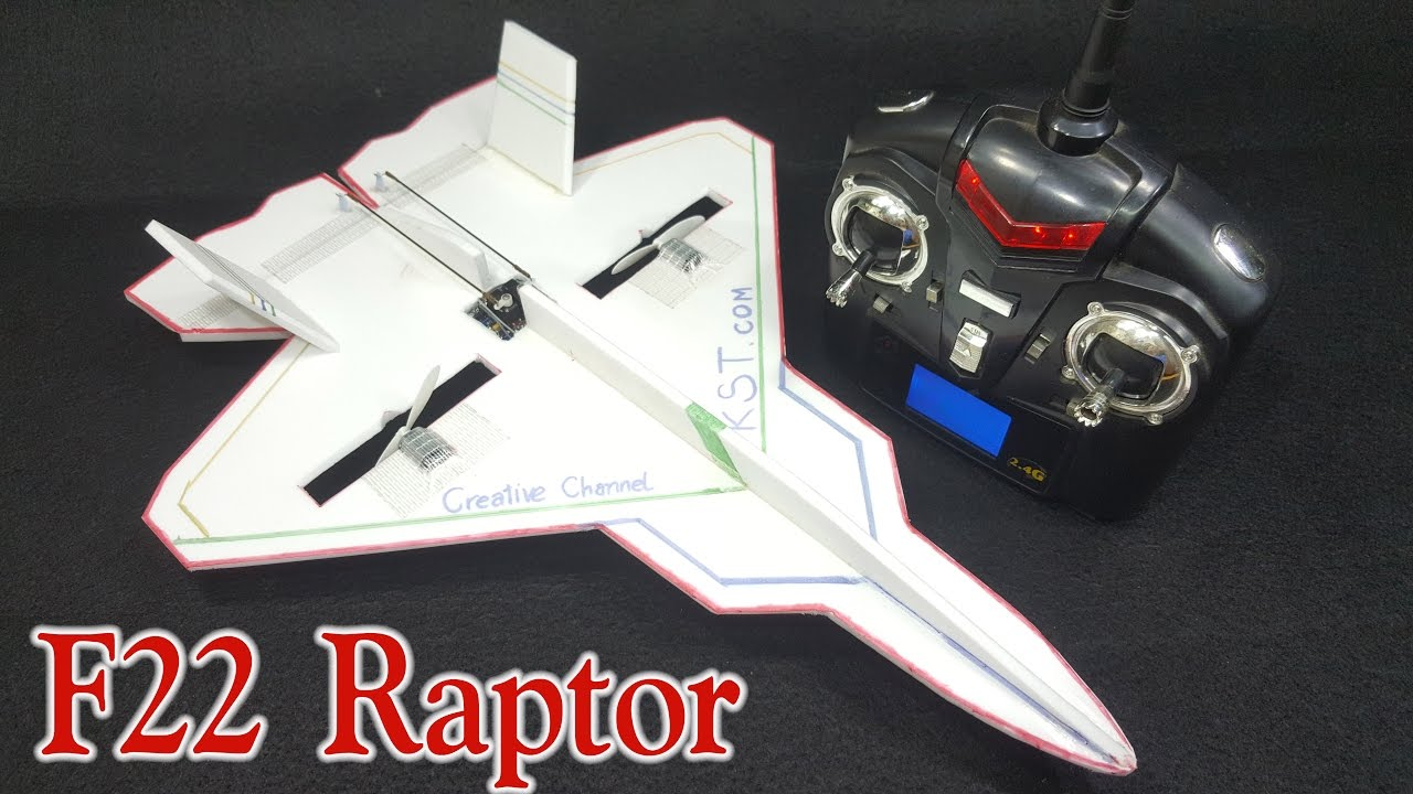 how to make a rc airplane f 22 raptor [ 1280 x 720 Pixel ]