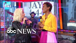 Catching up with Bebe Rexha live on 'GMA'