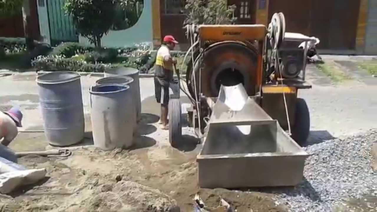 Mezcla de concreto para falso piso youtube for Mezcla de hormigon