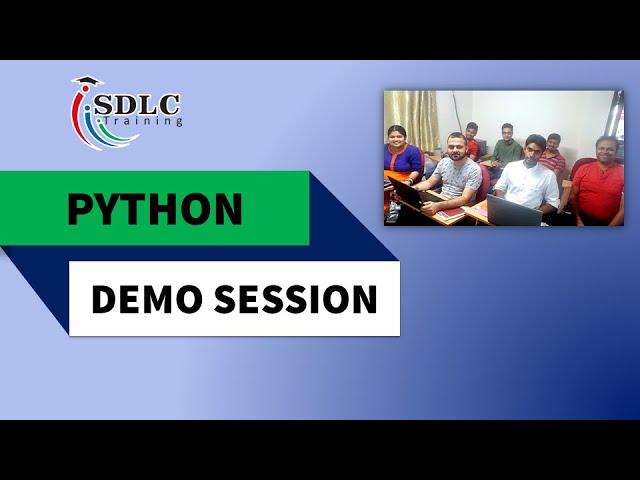 Python Demo Session   SDLC Training Institute   Marathahalli