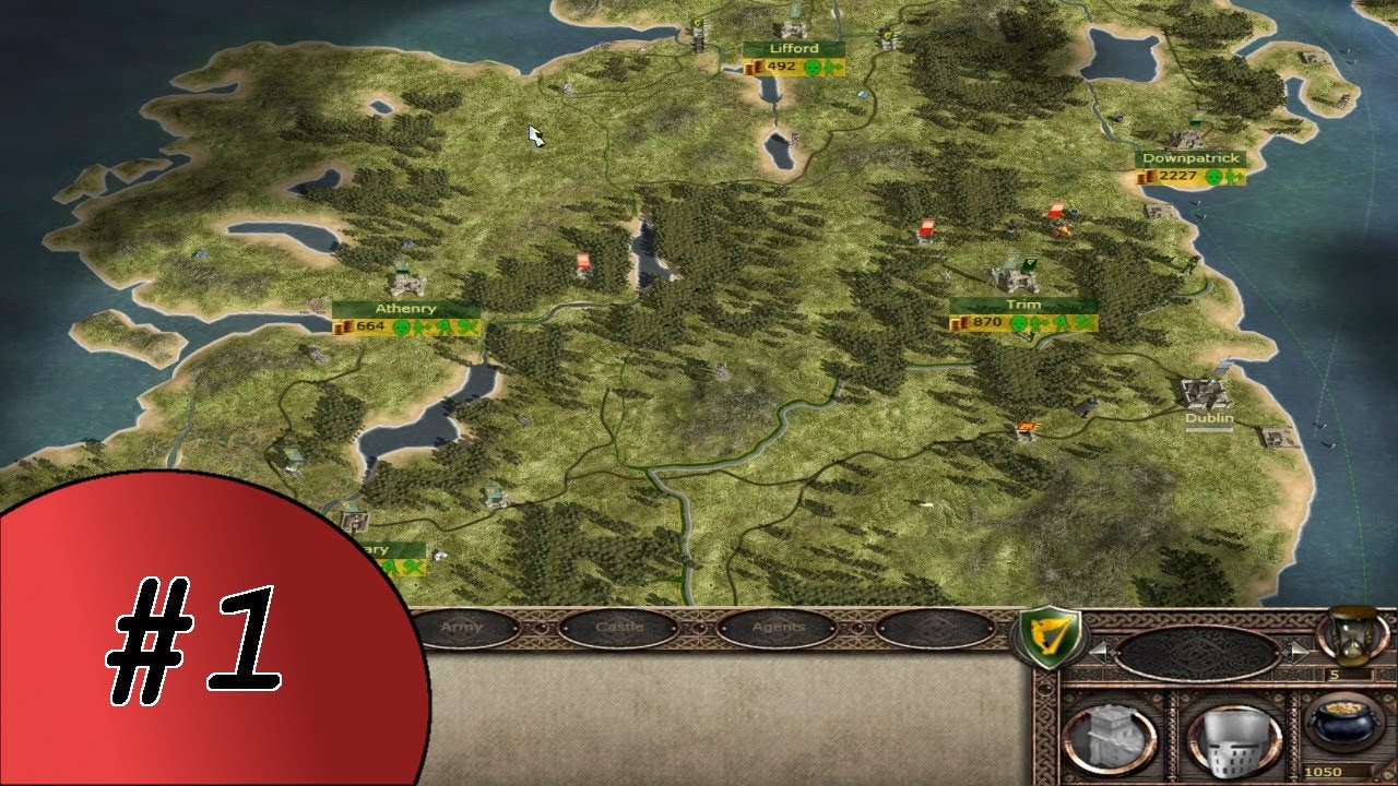 Let's Play Medieval II Total War Kingdoms: Britannia Part #1 - Kicking Out  The English [Irish]