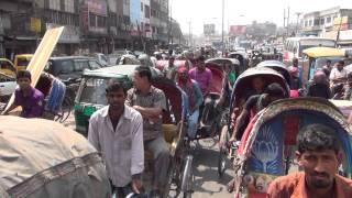 Dhaka, Bangladesh in HD by electric rickshaw