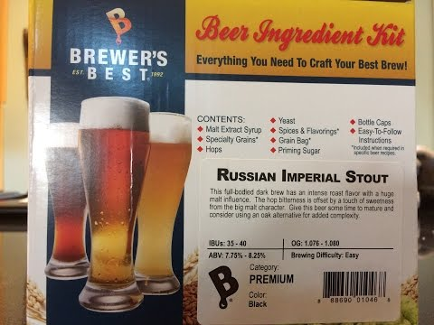 2 Mainehomesteaders home brewing Brewer's Best - Russian Imperial Stout