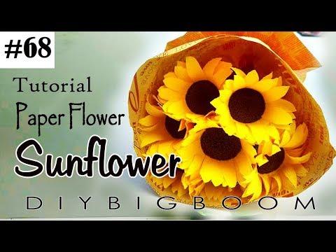Diy bigboom how to make sunflower paper flowers mightylinksfo