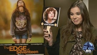 """HAILEE STEINFELD INTERVIEW gets """"AWKWARD!"""" THE EDGE OF SEVENTEEN SAN FRANCISCO STARVING VIDEO"""