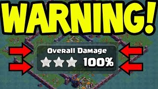 Warning - NO ONE IS SAFE! Clash of Clans Builder Hall 7 Destruction!