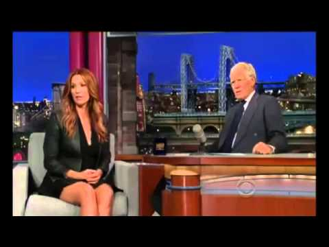 Late Show with Poppy Montgomery on David Letterman 16 July, 2013